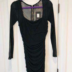 Fashion nova ruched midi dress